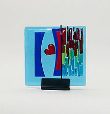 Hear Refuge II by Alicia Kelemen (Art Glass Sculpture)