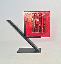 Red Refuge Prototype by Alicia Kelemen (Art Glass Sculpture)