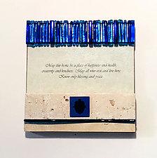 Blessing Plaque Hamsa Prototype by Alicia Kelemen (Art Glass Wall Plaque)