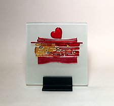 Heart I by Alicia Kelemen (Art Glass Sculpture)