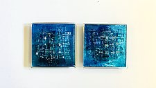The Blue Engagement II by Alicia Kelemen (Art Glass Wall Sculpture)