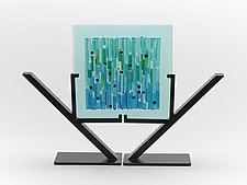 Aqua Marina Refuge I by Alicia Kelemen (Art Glass Sculpture)