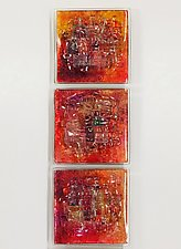 Fall Woven Collection I by Alicia Kelemen (Art Glass Wall Sculpture)