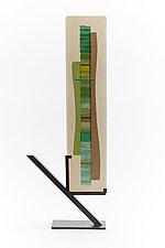 Mint Green Waterfall III by Alicia Kelemen (Art Glass Sculpture)