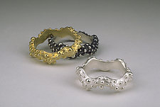 Wavy Bumpy Ring by Dahlia Kanner (Silver Ring)