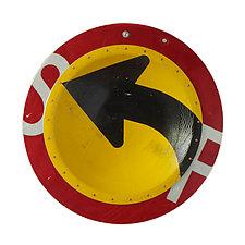 Left Turn D.P.W. Platter by Boris Bally (Metal Wall Art)