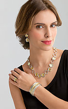 Aqua Necklace by Sana  Doumet (Gold & Silver Necklace)