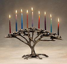 Tree of Life Menorah by Scott Nelles (Metal Menorah)