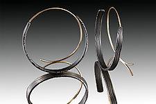 Loopy Hoops Earrings by Victoria Moore (Gold & Steel Earrings)