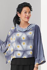 Shibori Cowl Topper by Laura Hunter (Woven Top)