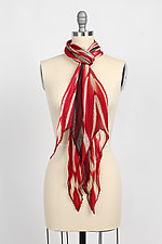 Shibori Pleated Scarf by Laura Hunter (Silk Scarf)