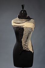 Double-Pleated Shadow Scarf by Laura Hunter (Silk Scarf)