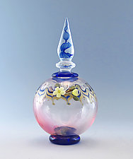 Blue Spiral Perfume Bottle by Chris Pantos (Art Glass Perfume Bottle)