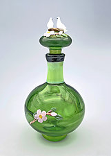 Two Doves by Chris Pantos (Art Glass Perfume Bottle)