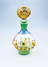 Sunflowers by Chris Pantos (Art Glass Perfume Bottle)