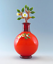 Floral Branch Perfume Bottle by Chris Pantos (Art Glass Perfume Bottle)