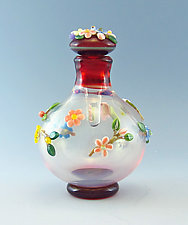 Mixed Floral II by Chris Pantos (Art Glass Perfume Bottle)