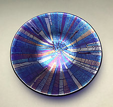 Blue Stream by Sabine  Snykers (Art Glass Bowl)