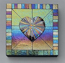 Heart Sunburst 2 by Sabine  Snykers (Art Glass Wall Sculpture)