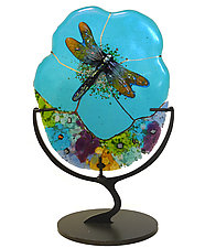Dragonfly by Karen Ehart (Art Glass Sculpture)