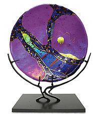 Amethyst Moon by Karen Ehart (Art Glass Sculpture)