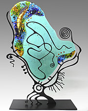 Sea Glass Palette by Karen Ehart (Art Glass Sculpture)