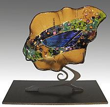 Leaf Sculpture by Karen Ehart (Art Glass Sculpture)