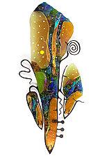 Cello by Karen Ehart (Art Glass Wall Sculpture)