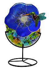Hummingbird by Karen Ehart (Art Glass Sculpture)