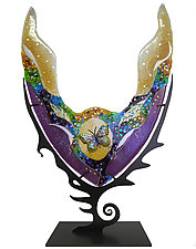 Butterfly Chalice by Karen Ehart (Art Glass Sculpture)
