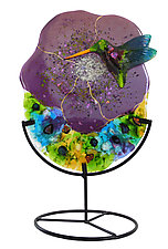 Hummingbird by Karen Ehart (Art Glass Sculpture)