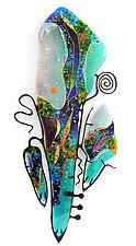 Sea Glass Cello by Karen Ehart (Art Glass Wall Sculpture)