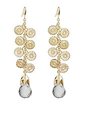 Finial Briolette Earrings by Ellen Himic (Silver, Gold & Stone Earrings)