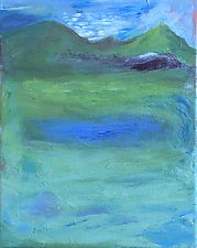 Water in the Green by Heidi Daub (Acrylic Painting)