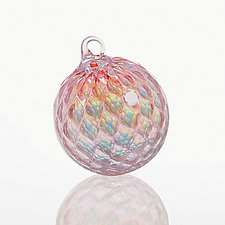 Tickled Pink by Glass Eye Studio (Art Glass Ornament)