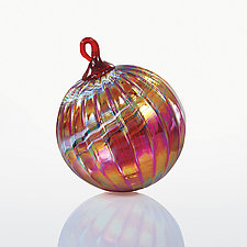 Ruby Jubilee by Glass Eye Studio (Art Glass Ornament)