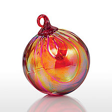 Carmine by Glass Eye Studio (Art Glass Ornament)