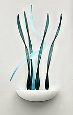 Serene Morning Light by Warner Whitfield and Beatriz Kelemen (Art Glass Wall Sculpture)