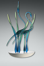 Together ll Wall, Emerald by Warner Whitfield and Beatriz Kelemen (Art Glass Wall Sculpture)