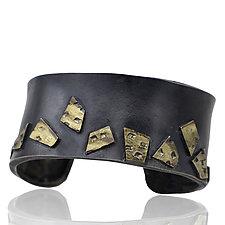 Edged City Puzzle Cuff by Lori Gottlieb (Gold & Silver Bracelet)