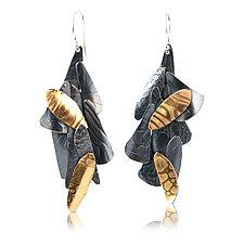 Chaos Earrings by Lori Gottlieb (Gold & Silver Earrings)