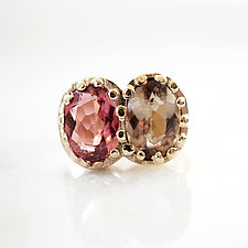 Double Tourmaline Ring in gold by Ana Cavalheiro (Gold & Stone Ring)