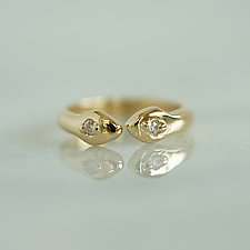 Thin Snake Ring by Ana Cavalheiro (Gold or Silver Ring)