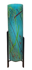 Bay Blue Tricil Lamp by Joel and Candace  Bless (Art Glass Table Lamp)