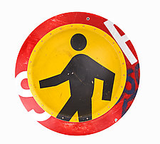 Ped X-ing D.P.W. Platter by Boris Bally (Metal Wall Art)