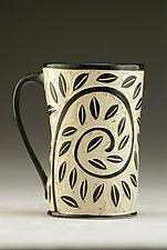 Vine and Leaf Mug by Jennifer  Falter (Ceramic Mug)