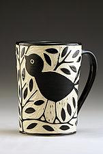 Blackbird Mug by Jennifer  Falter (Ceramic Mug)