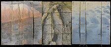 Water Markings Triptych by Wen Redmond (Fiber Wall Hanging)
