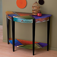 All the Colors at Once by Wendy Grossman (Wood Console Table)