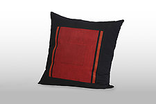 Beemer in Passion/Paprika/Black by Pamela Whitlock (Bamboo and Flannel Pillow)